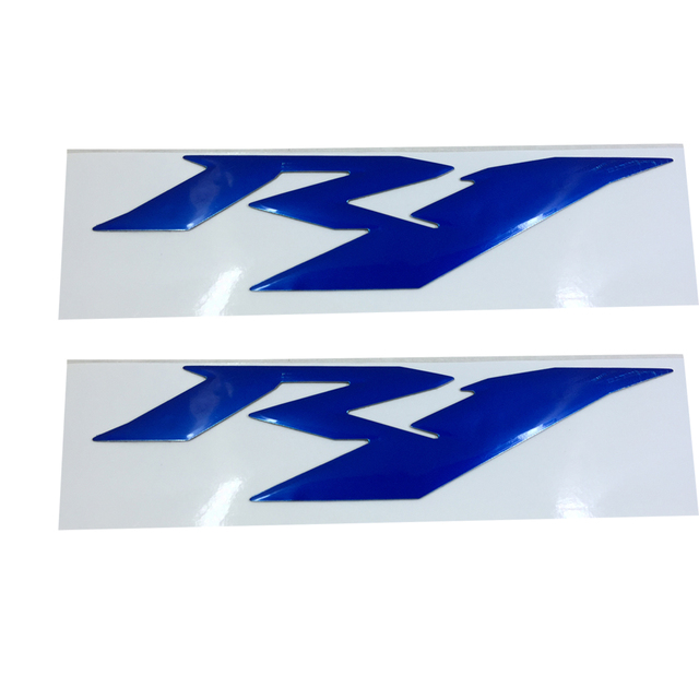 Blau Motorrad Emblem Abzeichen Aufkleber 3d Tank Rad Logo Fur Yamaha Yzf1000 R1 1998 2015
