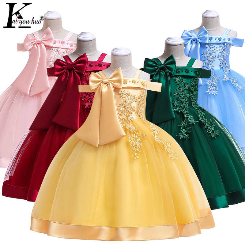 Girls Wedding Dress Summer Sleeveless Costume Kids Dresses For Girls Clothes Toddler Party Dress Vestidos 4 5 6 7 8 9 10 Years