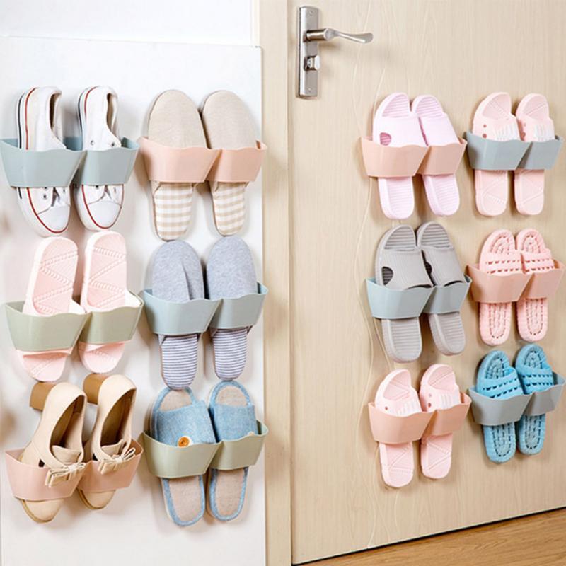 Pared pegado Zapatos colgando estante polvo Estantes plástico ...