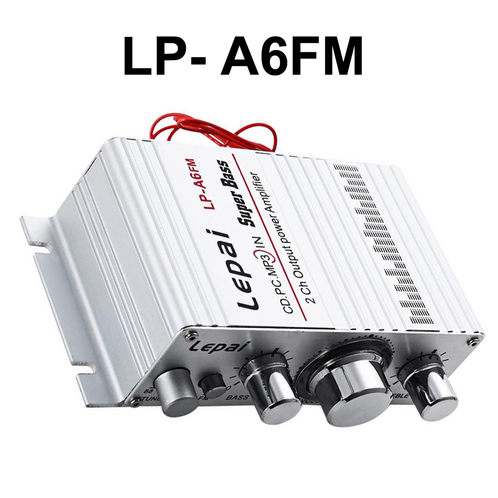 Disciplined Lp Amplifiers A6fm Mini Hi-fi Stereo Power Car Amplifier Fm For Computer Mp3 Speaker Audio Amplifier Let Our Commodities Go To The World Automobiles & Motorcycles