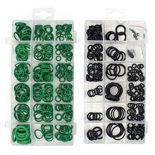 495 шт./упак. 36 размеры уплотнительное кольцо комплект черный и зеленый метрика уплотнительные кольца герметичность резиновых уплотнительных колец сопротивление масла ассортимент