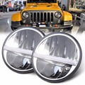 7 INCH Round 30W LED Headlight Kit With H4 High Beam Low Beam for JK Wrangler 07-15 Defender Hummer Truck 4x4 off road