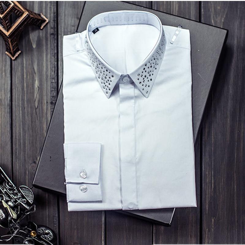 Chemise Xxxl Nouvelle Exquis blanc Diamant M Xxl Mode De Qualité Royal Taille Arrivée Haute Casual Noir Coton L Mâle Xl Vent Hommes CqC74Bx