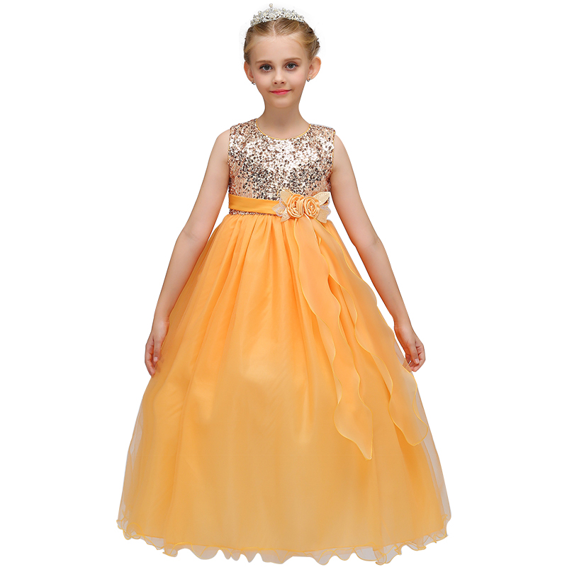 Baby Girl Princess Dresses Sequins Flower Kids Clothes Wedding Dress For Birthday Party Kids Toddler Clothing Children 3-12 T new year gift for girls dresses kids dress children clothes infant costume girl wedding party baby girl princess flower dress