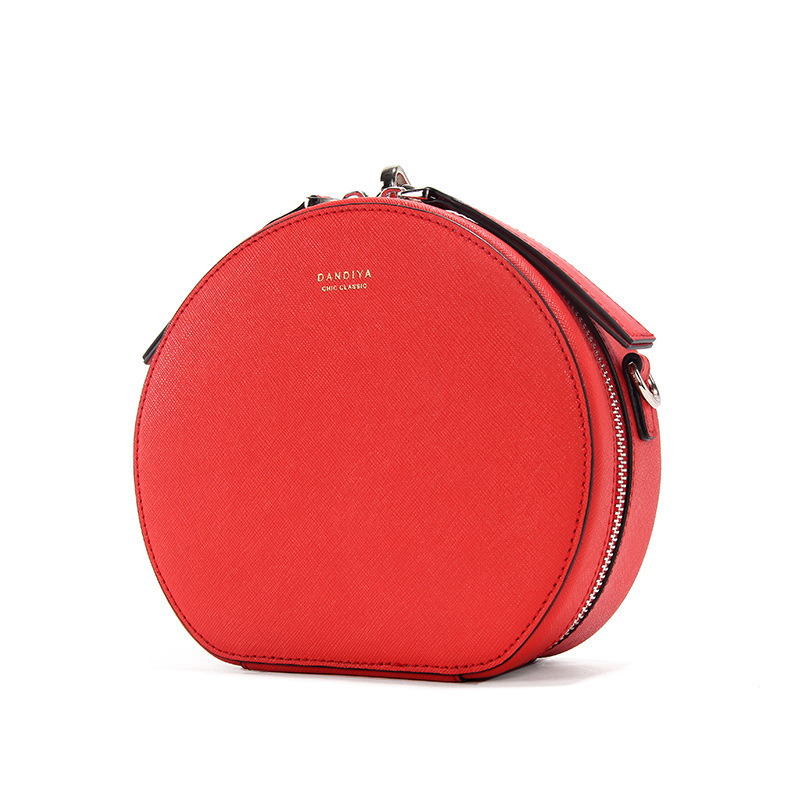 Famous Designer Handbags Genuine Leather Round Bag Women Small Crossbody Bags for Ladies Party Evening Clutch