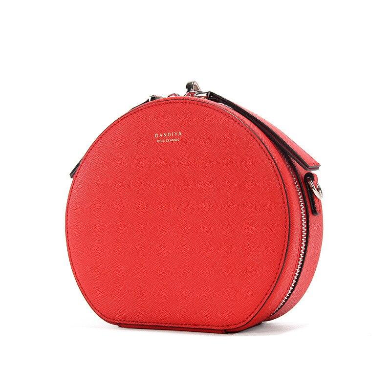 Bolsos de mano de diseñador famoso bolso redondo de cuero genuino para mujer pequeños bolsos de bandolera para noche de fiesta para mujer bolso de mano Feminina