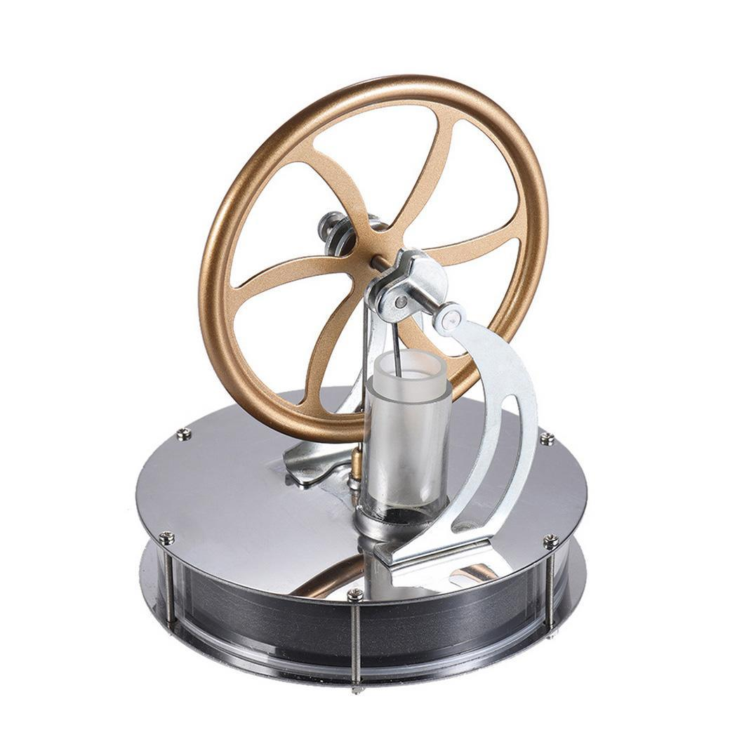 Low Temperature Engine Education Heat Steam Engine Model 7-14 Years Old DIY Coffee Silver Craft Decor Toy
