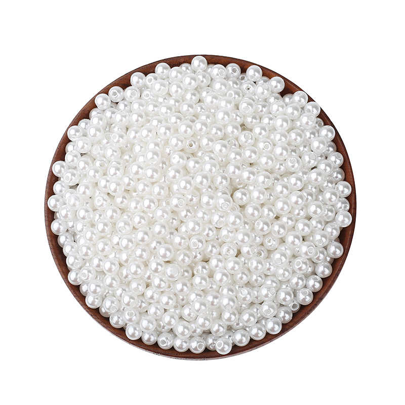 2000Pcs White Round Pearl Beads Various Sizes For Jewelry Marking Loose Spacer Beads Bracelet Necklace Charm Jewelry Finding