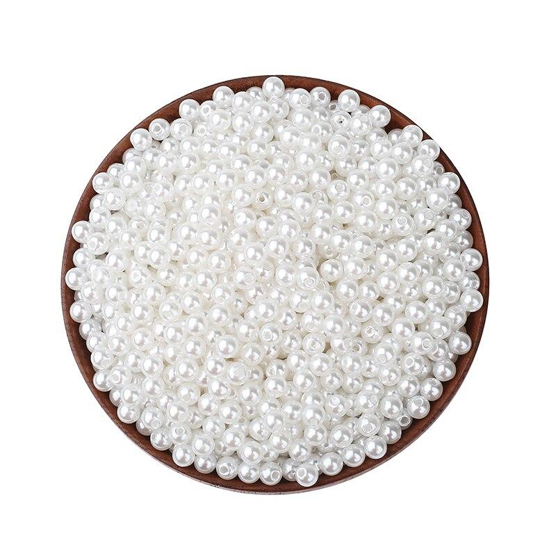 74.55руб. 45% СКИДКА|2000 шт, белые круглые жемчужные шарики, разного размера для ювелирных изделий, разметка, бисер, подвеска для браслета, ожерелье, ювелирных изделий|Бусины| |  - AliExpress
