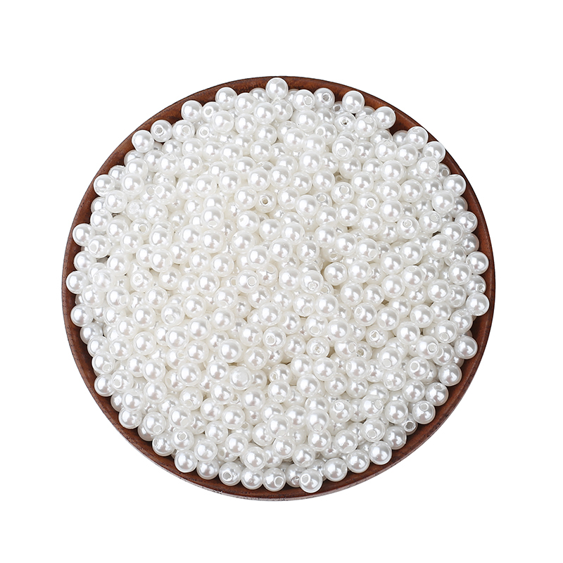 2000Pcs White Round Pearl Beads Various Sizes For Jewelry Marking Loose Spacer Beads Bracelet Necklace Charm Jewelry Finding(China)