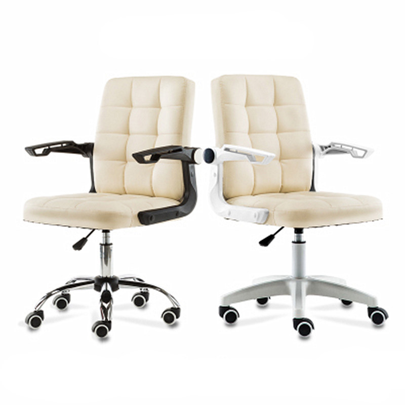 Multi-function Household Computer Chair Lifted Rotated Simple Office Staff Meeting Chair Rotating Armrest PU Soft Study Stool simple style lifted office chair staff meeting stool multi function household rotated swivel chair leisure gaming computer chair