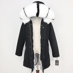Image 4 - OFTBUY 2020 Winter Jacket Women Real Fur Coat Long Parka Natural Raccoon Fur Collar Rabbit Fur Liner Thick Warm Streetwear New