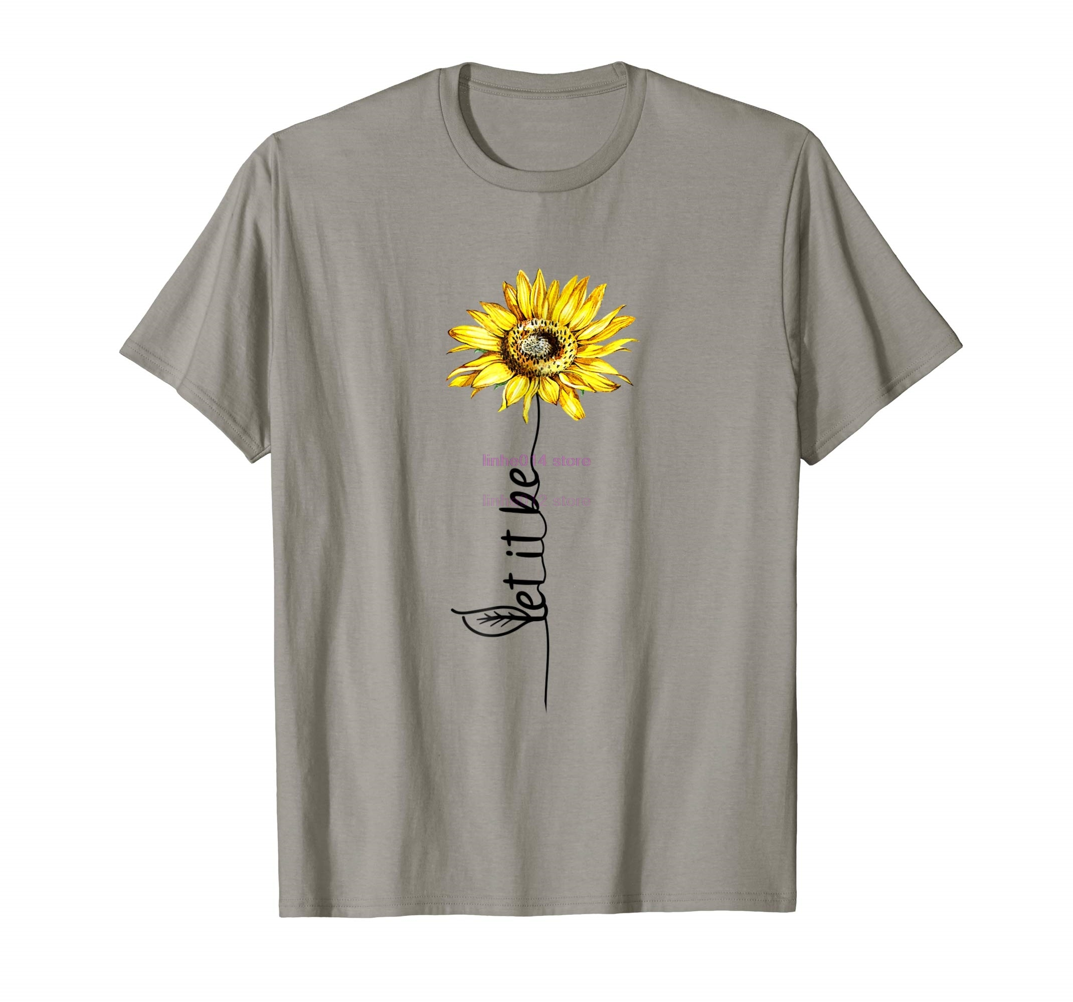 brand men shirt Trends Let It Be Sunflower Vintage Hippie Gypsy Soul T-Shirt