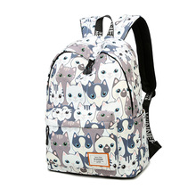 Waterproof Cat Print Backpack