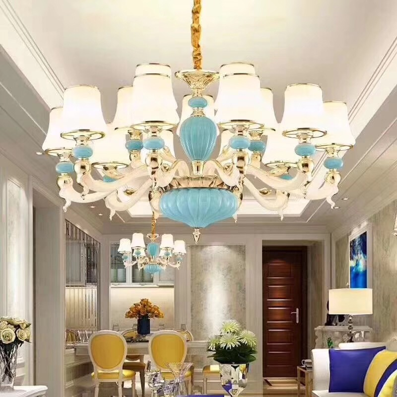 Blue sky goose sitting room droplight simple and sweet advocate bedroom dining-room Europe style pendant light 6 head 8,12 headBlue sky goose sitting room droplight simple and sweet advocate bedroom dining-room Europe style pendant light 6 head 8,12 head