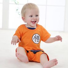 Summer Short Sleeve Baby Boy Clothes Full Sleeve Cartoon Cotton Baby Rompers Infant Jumpsuit Dragon Ball Newborn Toddler Clothes(China)