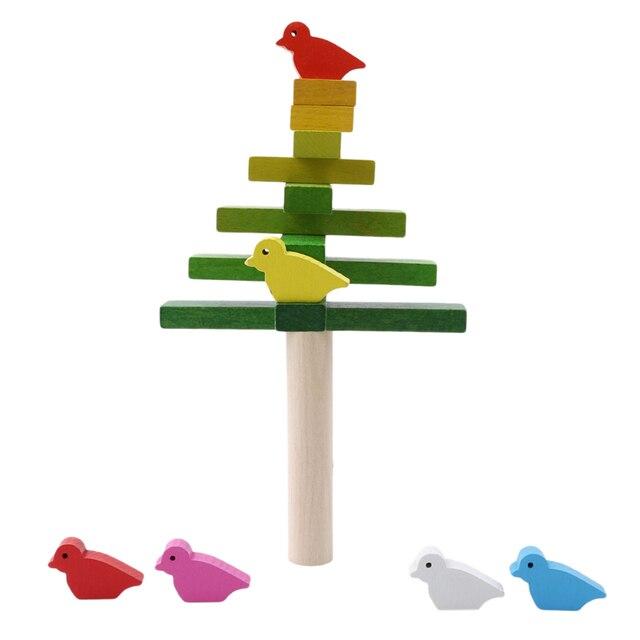 Juguetes Para Bebes Educativos Equilibrio Blocs Madera Aves Juguete