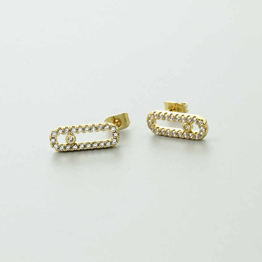 Long Bar Stud Earrings For Women Fashion Jewelry Crystal Oorbellen Small  Dot Cubic Zirconia Earrings Boucle 8c7d49ceb6a8