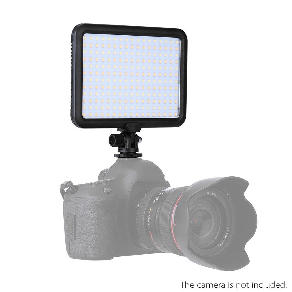 Prix pour NOUVEAU TTV-204 LED sur L'appareil Photo Panneau Bi-couleur 3200 K ~ 5500 K Dimmable pour Canon Nikon Pentax DSLR caméra pour la Photographie de Studio