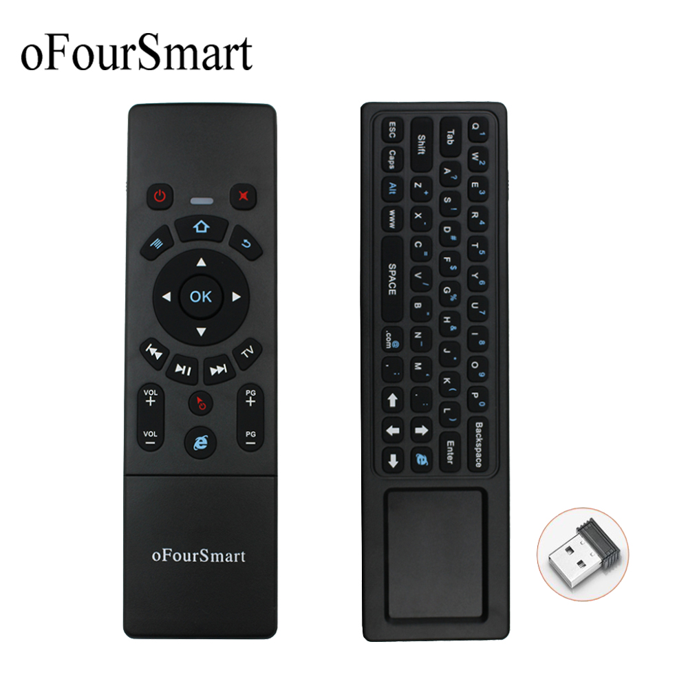 Remote Control for YouTube Browser for Techwood 40AO7USB 40 Inch Black Wireless Mini Keyboard /& Mouse Easy Control