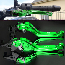 For Kawasaki ZX11 ZX-11 ZX 11 1990-2001 Aluminum Motorbike Motorcycle Brake Clutch Levers Foldable Extendable Adjustable