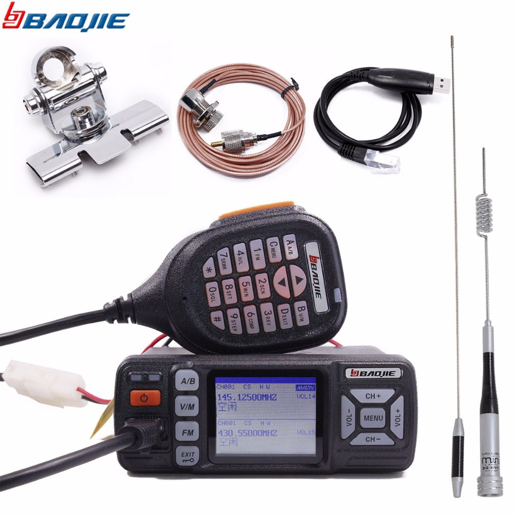 Vhf Uhf Walkie-Talkie Ham Radio Dual-Band BJ-318 Handheld Baojie Long-Range PTT Mini