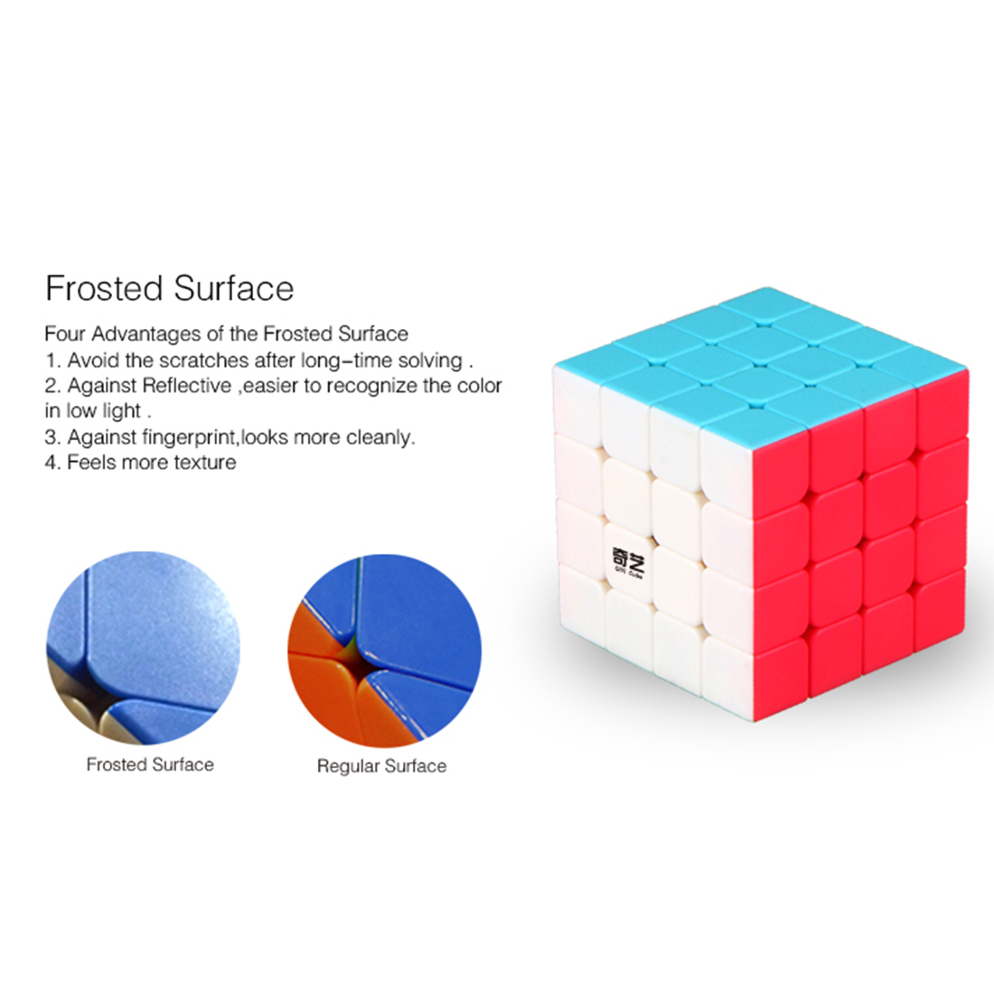 2017 Yeni QiYi Yuan S 4x4 Magic Cube Puzzle Speed - Bulmacalar - Fotoqrafiya 5