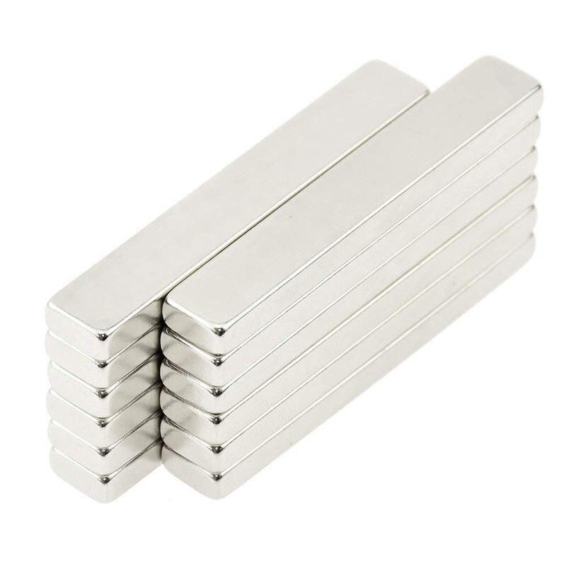 12x Powerful Neodymium Thin Bar Magnets, Rare-Earth Metal Neodymium Magnet, N45, Incredibly Strong 33+ LB Strength - 60 X 10 X12x Powerful Neodymium Thin Bar Magnets, Rare-Earth Metal Neodymium Magnet, N45, Incredibly Strong 33+ LB Strength - 60 X 10 X