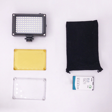 112 LED Dimmable Video Light Lamp Rechargable Panal Light +BP-4L Battery