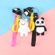 Creative cute cartoon keychain Metal jewelry Animal Panda Keychain Girls bag ornaments accessories gift Girl Keyring