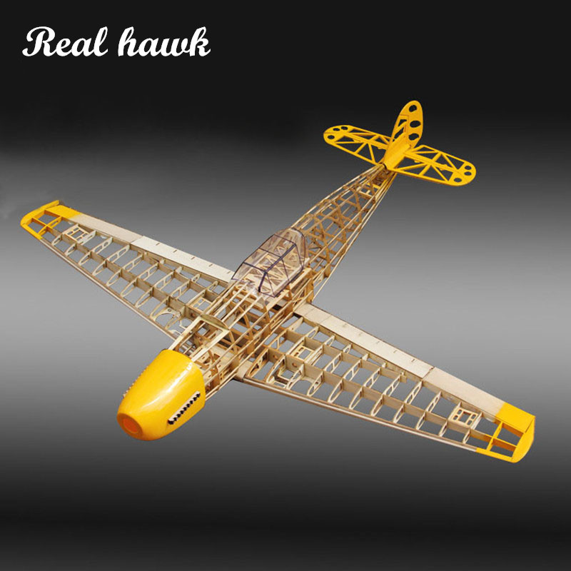 low priced 622b8 61f45 RC Plane Laser Cut Balsa Wood Airplane Kit New BF109 Frame without Cover  Free Shipping Model Building Kit