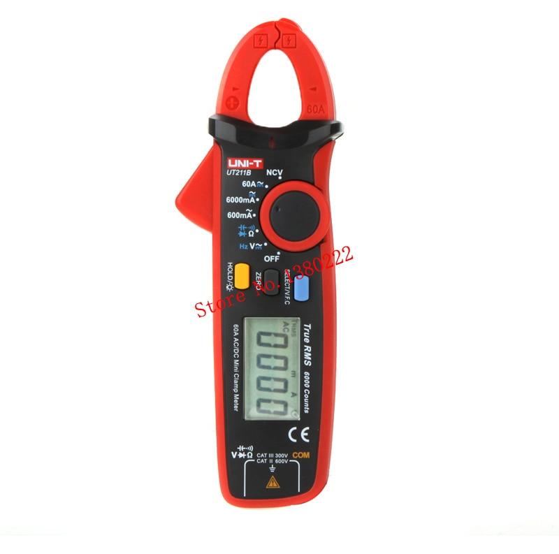 UNI-T UT211B 6000 Counts Digital Multimeter True RMS high precision Mini Clamp Meters Auto Range V.F.C. NCV Capacitance цена