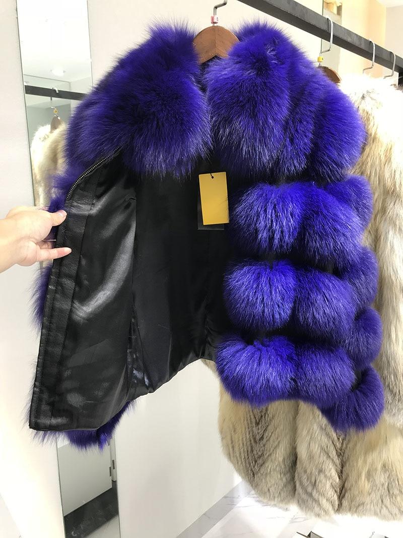 Haining Pourpre Nouveau Manteau Marchandises Manteau Renard En Vison Gros Fourrure 2018 De Épaississement Chaud O6n46xA