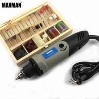 MAXMAN 100 stks/set 3mm As Polijsten Dremel Accessoires & Elektrische Mini Stiftslijper 0.6 ~ 6.5mm Chuck Variabele snelheid Rotary Tool