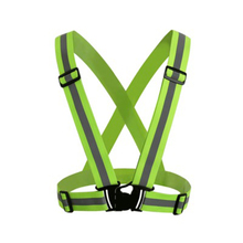 Unisex High Visibility Reflective V-shaped Strap Belt Cycling Vest For  Adult Kids Security Safety Warning Night Riding Running abfe9dd38