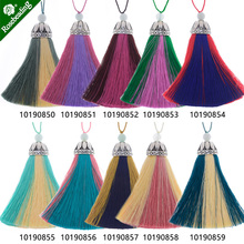 Rayon Tassel with Cap silk tassel Multi color theme tassels for Earrings necklace Keychain,Sold 2pcs/lot