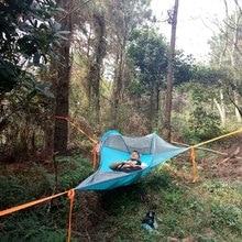 אדם אחד טיולים נסיעה עץ אוהל חיצוני קמפינג עץ ערסל מיטת Ultralight רב תפקודי שלושה עצי תליית מיטה