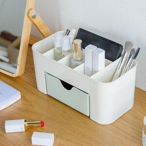 Image 3 - Creative תכליתי מחזיק עט שולחן עבודה מכתבים משרד פלסטיק מקרה אחסון תיבת בית ציוד משרדי סיטונאי