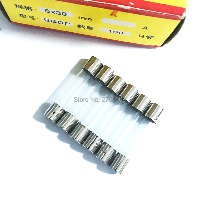 6*30mm Glass Fuse Tube Fuse 6x30mm 250V 0.5A 1A 2A 3A 4A 5A 6A 8A 10A 12A 15A 20A 25A 30A Fast Fusing 6X30 High Quality Fuse