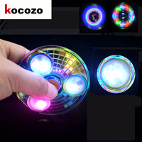 Fashion UFO Shape Hand Spinner With LED Light Fidget Spinner Finger Metal EDC Tri Spinners For