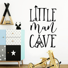 American-Style little man Phrase cave Decals Wall Stickers For Kids Room Decor Decal Wallpaper Sticker Mural
