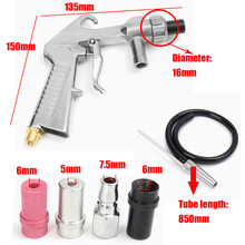 7Pcs Air Sandblaster Sandblasting Blast Gun+Nozzles+Connector+Tube Derusting Tool Kit Power Tools