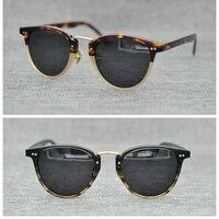 2018 New Arrival OLIVER PEOPLES Round Sunglasses Men Women OV5224 Polarized Vintage Sun Glasses Zonnebril Mannen