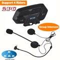 El envío gratuito! 2x Motocicleta Intercomunicador Del Casco de Auriculares Interphone Bluetooth 4.1 Grupo