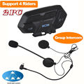 Free shipping!2x Interphone Bluetooth 4.1 Motorbike Motorcycle Helmet Intercom Headset Group