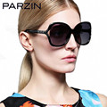 Parzin Tr 90 Polarized Sunglasses Women Oversized Polarized Sunglasses Luxury Rhinestone Female Sun Glasses Black With Case 9813