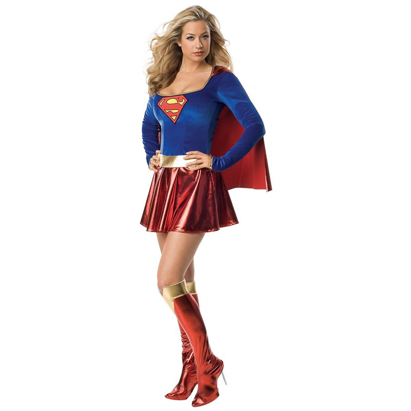 New Movie Wonder Woman Cosplay Costume <font><b>Adult</b></font> Superwomen <font><b>Sexy</b></font> Fancy Dress with Boots Cover <font><b>Halloween</b></font>/Carnival/Show/Party image