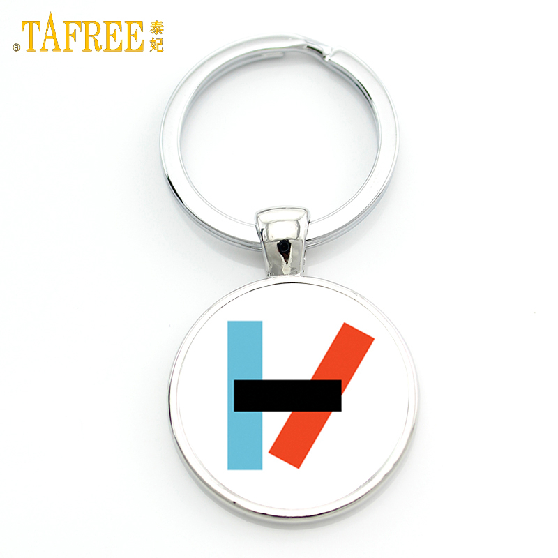 TAFREE Twenty One Pilots Keychain Music Band Fans Men Women Graphic Pendant For Key Metal Jewelry Key Holder H257