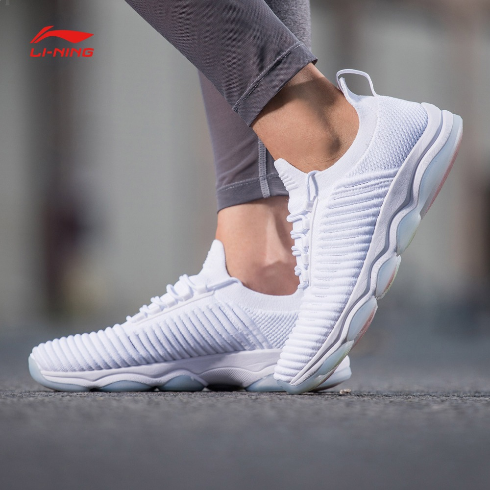 Li Ning Women GO MASTER Cushion Training Shoes Mono Yarn LiNing RunningBreathable Fitness Sports Shoes Wearable