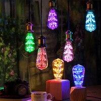 שמי זרועי הכוכבים צבעוניים ST64 מנורת Led מנורת e27 110 v/220 v led זיקוקין נורות 3 w גלוב led עבור מפלגת בית אווירה קישוט